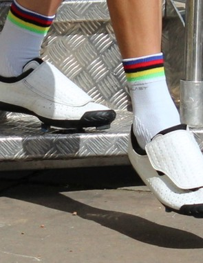Bont shoes are popular in the Tour de France peloton. World champion Rui Costa is a fan