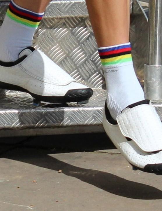 Bont shoes are popular in the Tour de France peloton. World champion Rui Costa is a fan