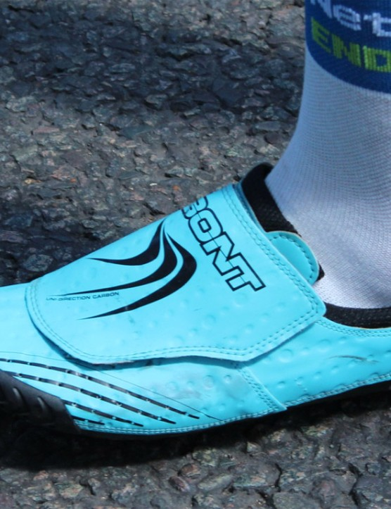 Bont has a whole range of shoes, but the Zero+ seems to be the most common among pros