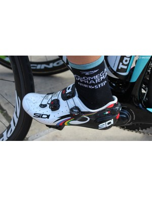 Specialized has been trying to get world TT champion Tony Martin on its shoes for a while, but the German loves his Sidis