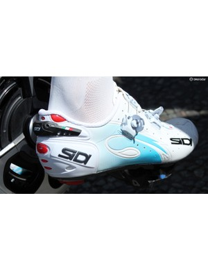 A few Tour pros ride with the Sidi adjustment tabs flipped open, so they can tighten or loosen on the fly