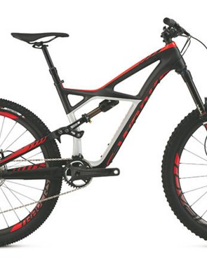 The revised Enduro 650b sports a new alloy rear end with slightly longer 422mm chainstays – but the same front triangle as used on the 26in wheeled version of the bike