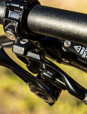 The newly designed Command Post IR dropper post remote lever is called the SLR (Single Ring Lever). It's easy to use but only makes sense if you're not running a front shifter