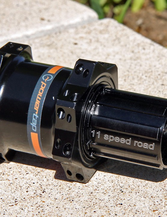 Powertap's latest GS power meter rear hub is just 80g heavier than the DT Swiss 240s rear hub on which it's based, which retaining impressive levels of fit and finish