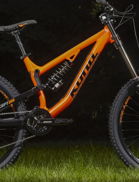 The Precept 200 joins the budget-orientated Precept trail bikes, offering a perfectly capable downhill bike on a budget