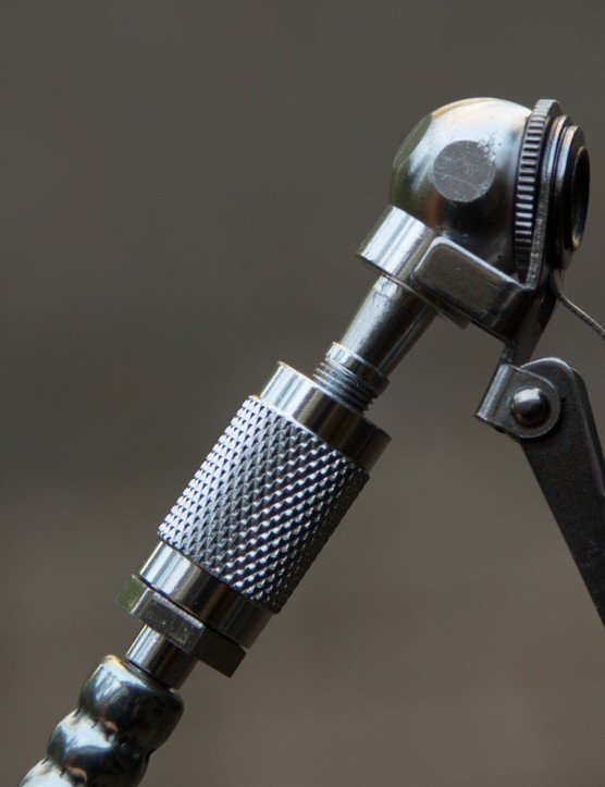 The Schrader valve add-on features a large clip that grabs hold of the valve easily and securely