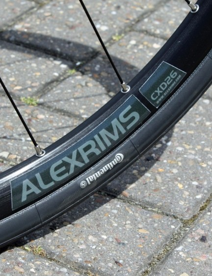 The 17mm wide Alex CXD26 rims are disc-specific