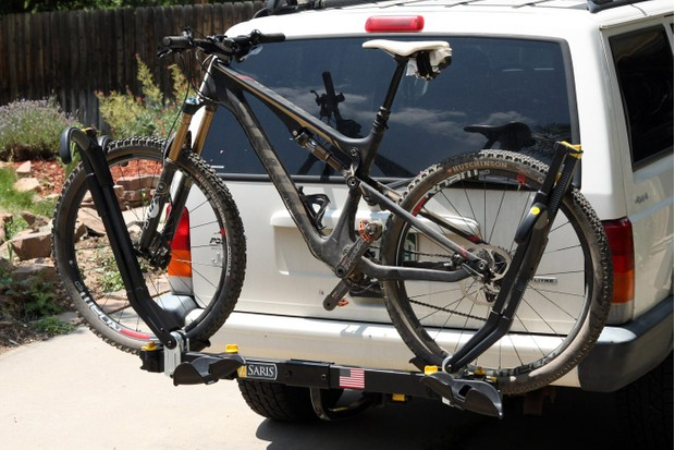 The Saris Freedom SuperClamp 2-Bike hitch-mounted rack is remarkably easy to use