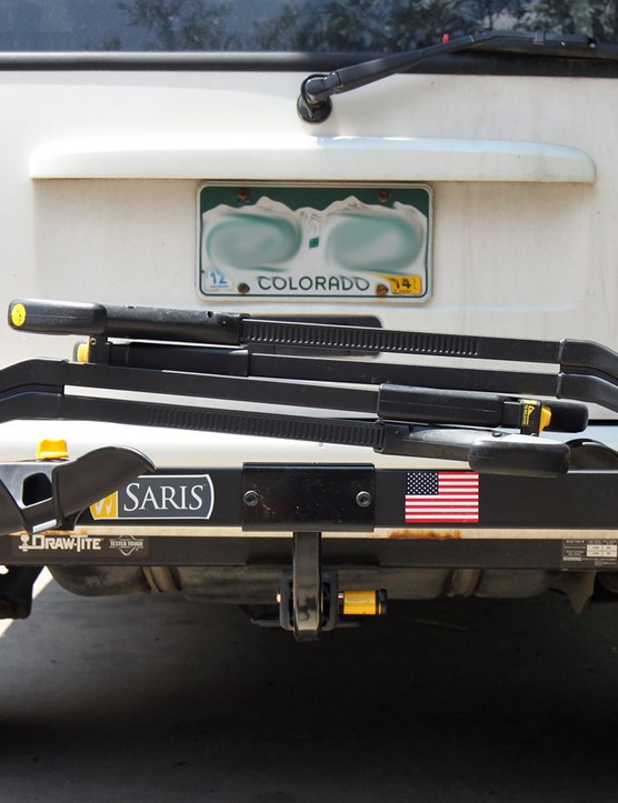 When not in use, the ratchet arms fold down to allow access to the hatch. The rack doesn't have any sort of tilt mechanism, though, so many users won't be able to access the rear of the vehicle when bikes are mounted