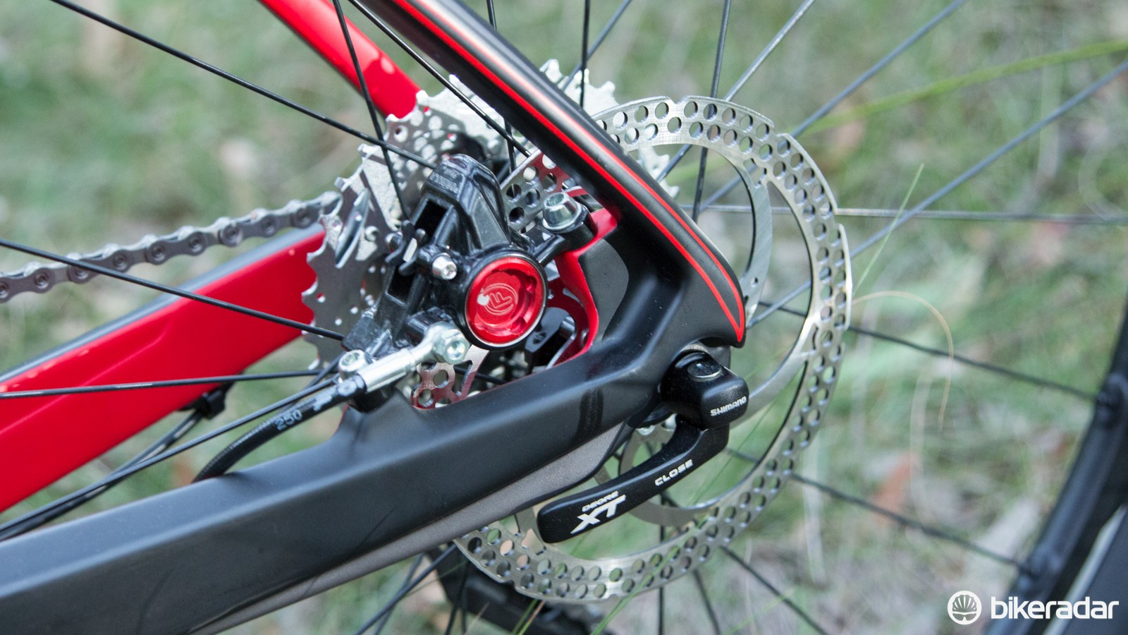 BH's EVO brake mount is designed to improve braking performance without affecting ride quality