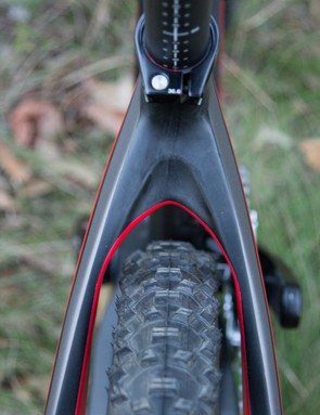 Even with wide-gauge rubber fitted, it's pleasing to see plenty of surrounding frame clearance