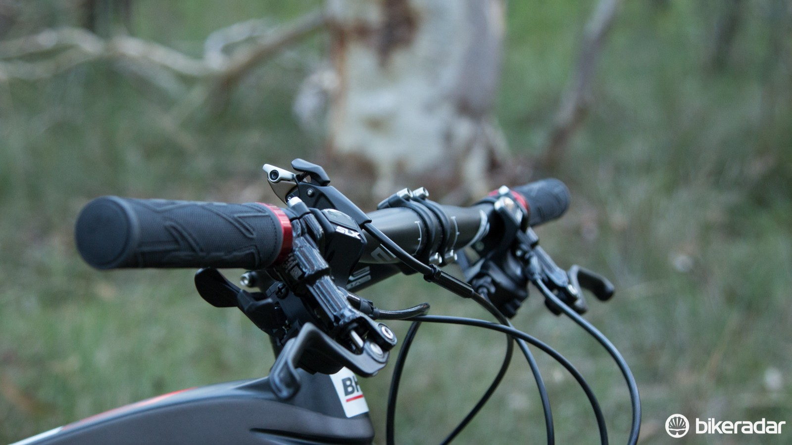 620mm wide bars simply aren't appropriate for a performance mountain bike. Most pro riders use bars of 660mm or wider these days for greater control and leverage