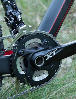 This 38/24T gearing more commonly appears on 29in bikes – fast fireroads and roads had us wanting a little more
