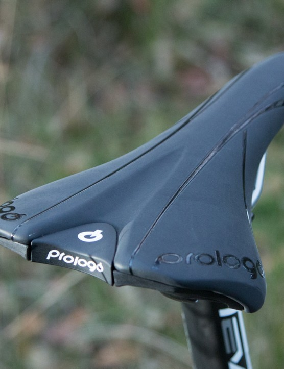 The Prologo saddle is generously padded and the shape suited us well