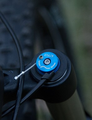 The Fox CTD damper is controlled by a handlebar mounted remote – great for racing