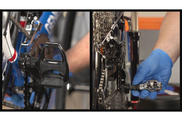 Fit your new pedals to the bike
