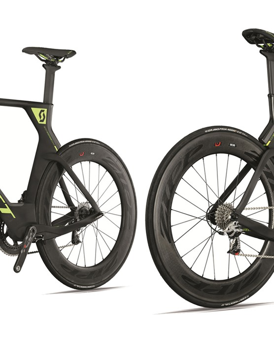 The Plasma Team Issue is the range-topper, and comes loaded with SRAM Red22 and Zipp Firecrest 404 and 808 carbon clincher wheels. Its claimed weight is 8.5kg