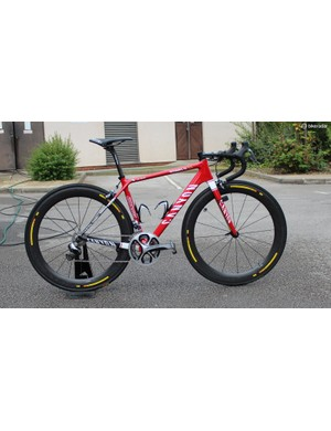 Paolini's Canyon Ultimate CF SLX with Shimano Dura-Ace Di2 and Mavic Cosmic CXR 60 tubulars