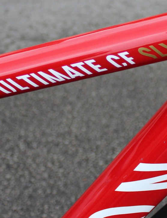 Katusha riders have the Ultimate plus the new Aeroad CF SLX to choose from