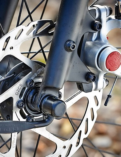Avid's BB5 disc brakes provide powerful stopping in all weathers