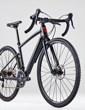 Seen in semi-profile, the Revolt's dropped seatstays don't hit you in the eye so strongly