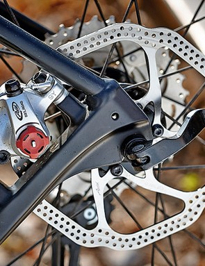 Avid's BB7 brakes are slightly more adjustable than its BB5s