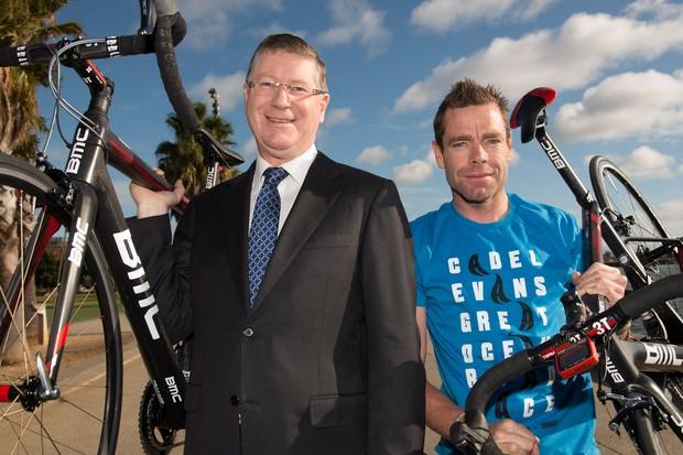 Cadel Evans & Victorian Premier Dennis Napthine launch the Cadel Evans Great Ocean Road Race