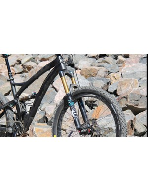 The SB5c is designed around a 140mm fork; it has 127mm of rear suspension travel