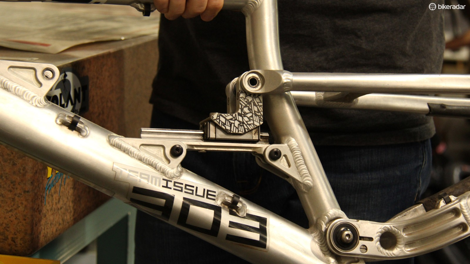 Switch Infinity merges lessons learned from the company's linear rail bikes, such as the 303 shown here...
