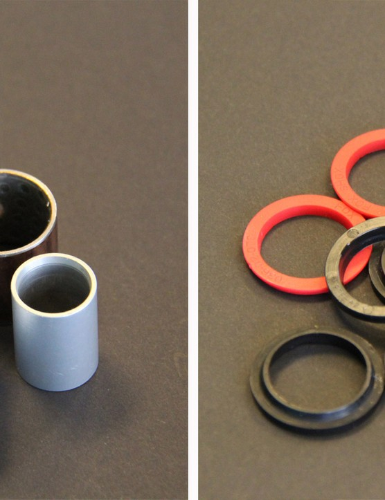 Yeti experimented with many different bushing and seal configurations in their efforts to make the system as durable as possible
