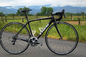 Trek's new Emonda SLR is the lightest road frame the company has offered to date. Claimed frame weight is just 690g for an unpainted 56cm sample