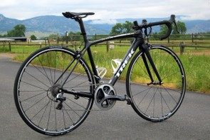 Our Trek Emonda SLR 8 test sample comes in at 6.19kg (13.65lb, without pedals), built with a Shimano Dura-Ace mechanical group and Bontrager tubeless aluminium clincher wheels
