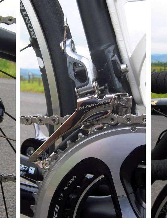 Shimano's Dura-Ace mechanical group is used all around