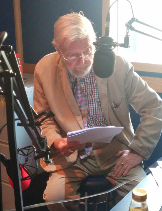 Tony Haygarth reads the script for the Alpe d'Huez film
