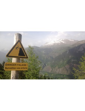 Filming the Alpe can be a dangerous business