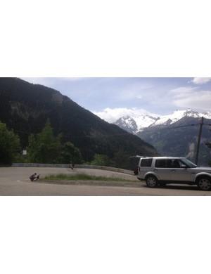 The switchbacks of Alpe d'Huez