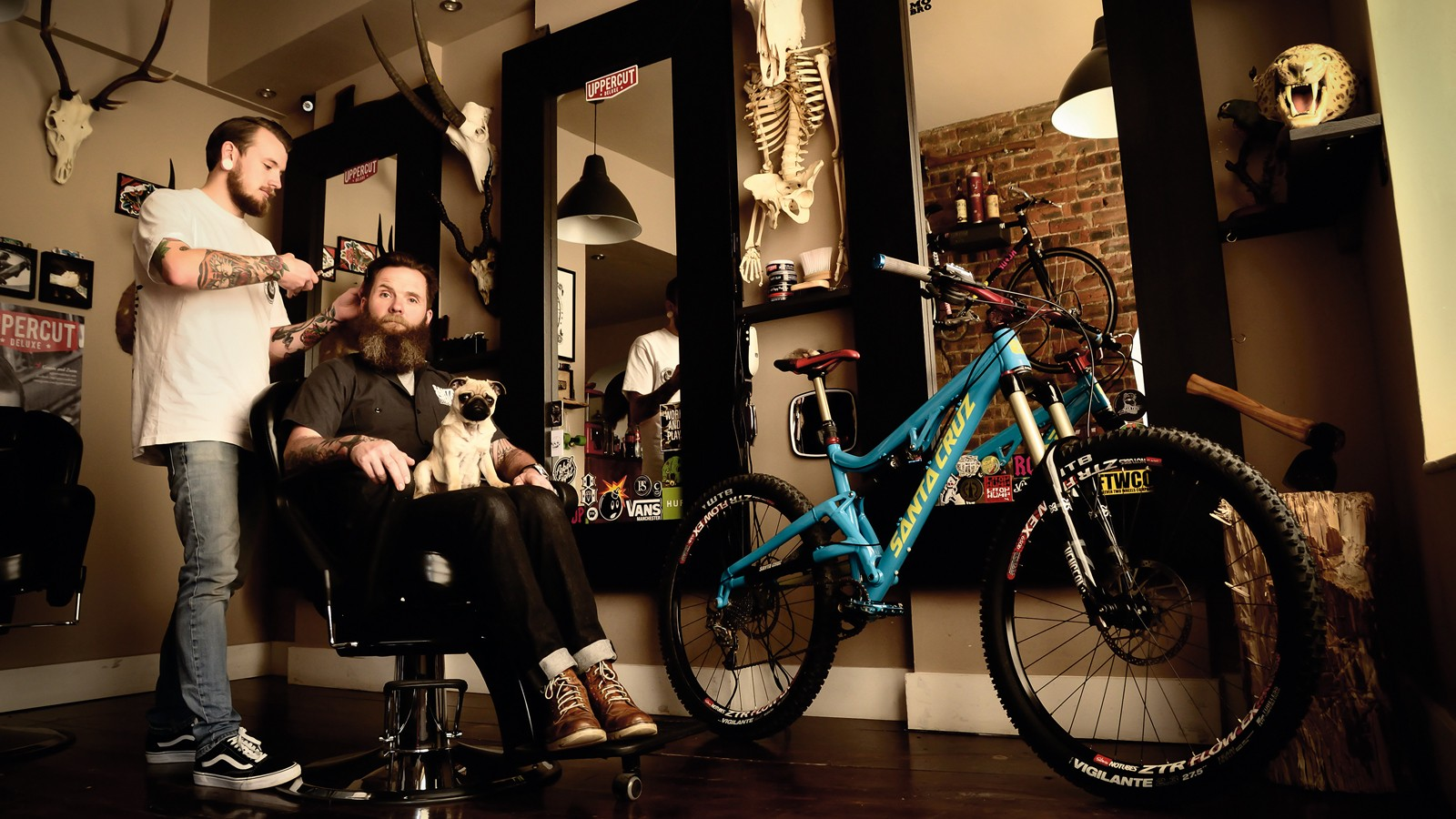 Have pug, will travel – Ed Oxley's not your average mountain biker