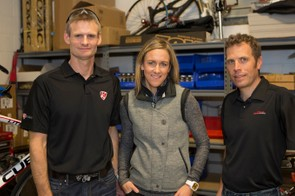 Joe Savola (left), Kristin Armstrong and Eric Jensen are the partners behind K-Edge