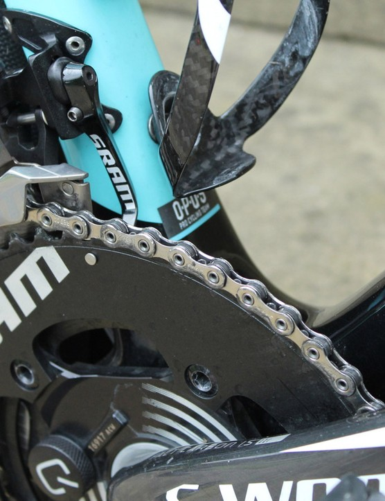 SRAM has its own chain catcher now that comes with the Red 22 groups