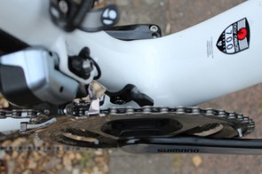 Trek is going a different path, with a frame-mounted chain catcher