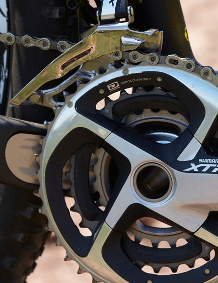 The Merida boasts a full XTR gear and brake set, giving exceptional performance