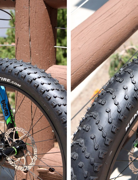 Relatively fast-rolling Kenda tires and a RockShox Bluto fork should make for excellent traction and control