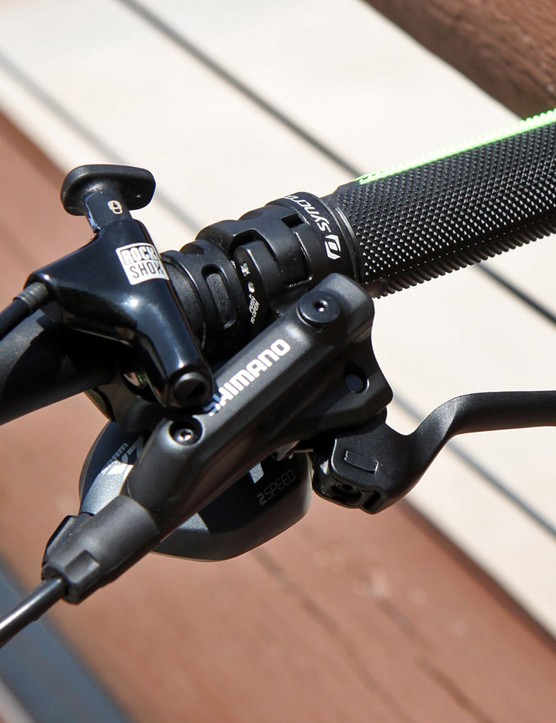 Shimano brakes are used heavily throughout Scott's 2015 mountain bike range