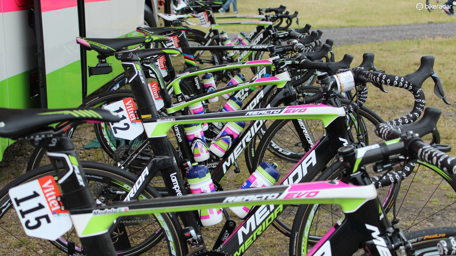 Lampre-Merida have no less than five different road bike models at the Tour de France