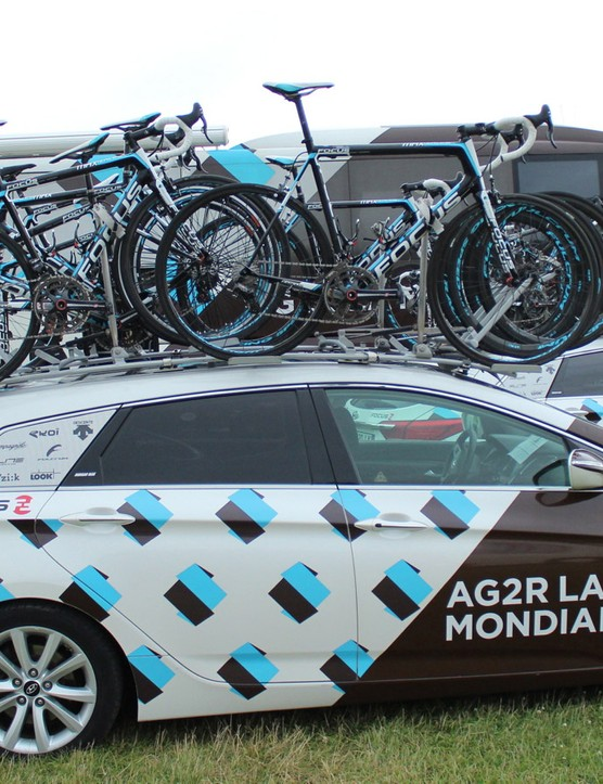 AG2R-La Mondiale riders can choose any bike they like, so long as it's the Focus Izalco Max. Focus has others, of course, but the team did not bring them