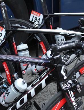 Scott-sponsored racers brought the Addict road bike and Foil aero bike