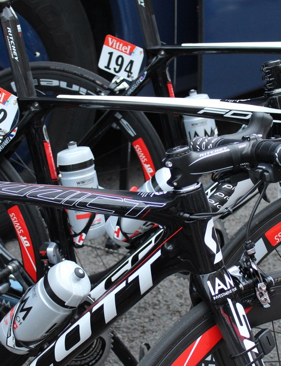 Scott-sponsored racers brought the Addict road bike and Foil aero bike