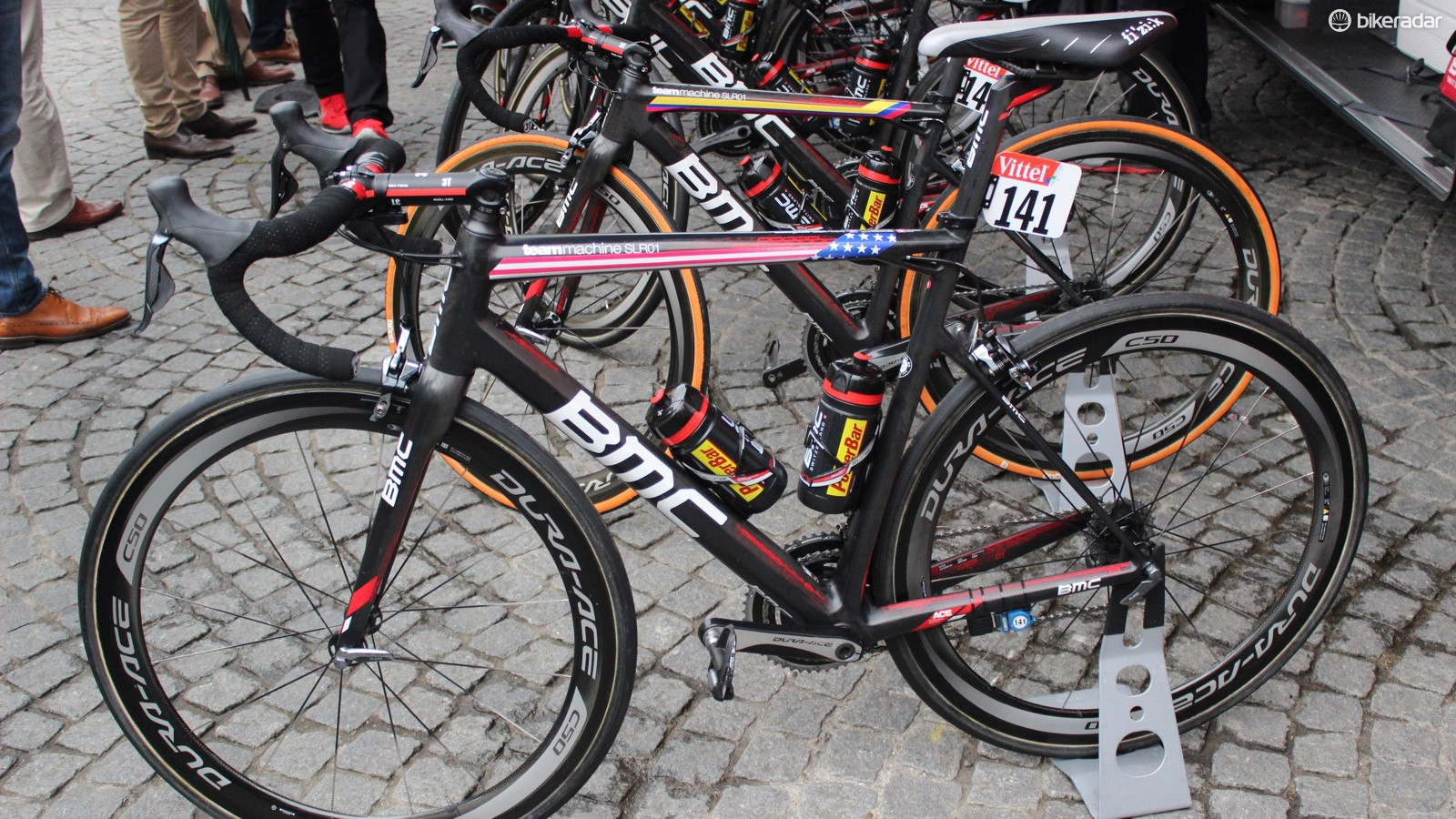 BMC riders opted for the SLR01 road race bike over the GF01 endurance bike - even on stage 5