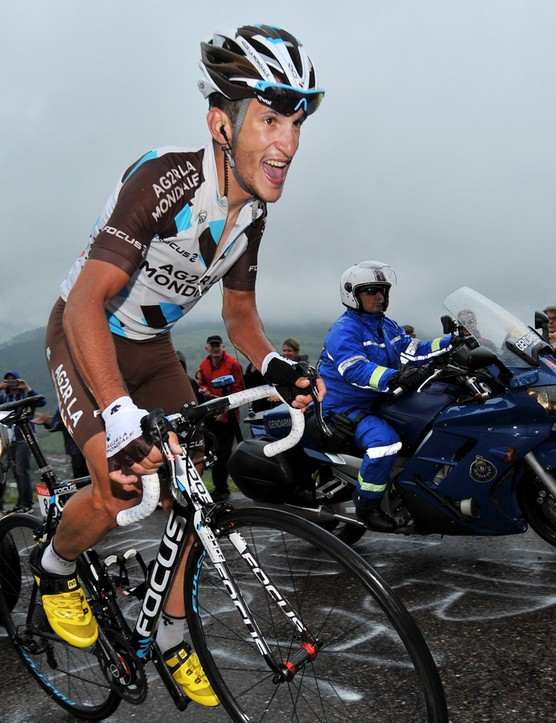 AG2R-La Mondiale's Blel Kadri rides to victory on stage 8 about the Focus Izalco Max, his one road bike for the race