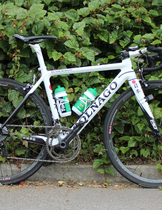As part of Europcar, Arashiro has a huge selection of bike models from which to choose. For most stages of the 2014 Tour, he has been on this M10